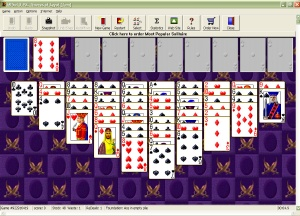 Play 30 of the most popular solitaire games including FreeCell and Spider well known Screen Shot